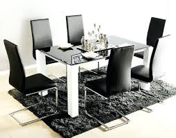 glass dining table 6 chairs furniture extendable dining table with 6 chairs tables and white black