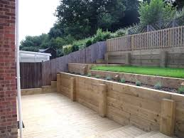 Small Picture railway sleeper tiered garden Google Search Garden Inspiration