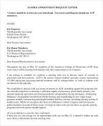 Sample Letter Request For Appointment Noplaceleftworld Com