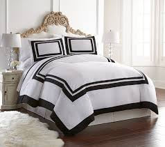 belmont by 3 pieces hotel style bordered square pattern duvet cover set queen white belmont 3 piece duvet cover set by chezmoi collection ship from us