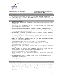 Resume Samples For Experienced Testing Professionals Resume Format For Software Tester Fresher Testing Cv folous 2