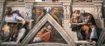 michelangelo vs leonardo da vinci fondo de pantalla called ceiling of the sistine chapel