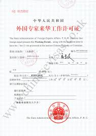 Chinese Visa Sample Documents For Chinese Visas Etc