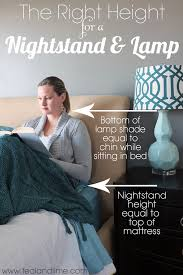 the right height for a nightstand and lamp tealandlime com
