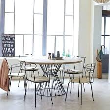 Table Cuisine Ronde Table Pied Central Table Cuisine Pied Central