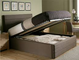 ... Choice Of Colors Claridge Upholstered Ottoman Storage Beds Queen:  Platform Charming Storage Beds