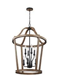 f3040 8wow 8 light two tier chandelier weathered oak wood