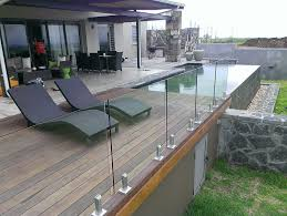 frameless glass deck railing systems astounding attractive balcony balcony ideas home ideas 4