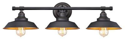 3 light wall fixture oil rubbed bronze finish with highlightetallic bronze interior call for
