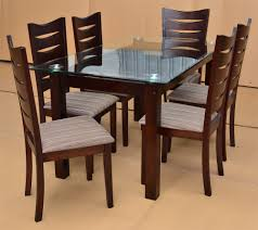 wood kitchen table chairs within dining room rectangle clear glass top for with inspirations 19