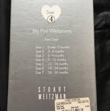 Stuart Weitzman Baby Shoe Size Chart Stuart Weitzman Black And Silver Girls Vance Boots Booties Size Us 4 Regular M B