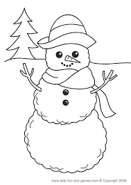 Winter Coloring Pages Kids Games Central