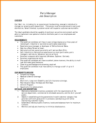 10 Parts Manager Resume Address Example
