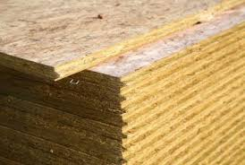 Despite its uneven surface, particleboard has good structural integrity.