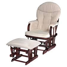 glider rocking chair luxury hauck nursing stool walnut beige
