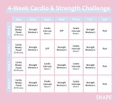 4 week workout plan for women shape