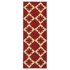 kaleen rugs escape red and yellow runner 2 ft x 6 ft rug