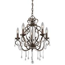 Shop Portfolio Roz 16 In 5 Light Dark Bronze Vintage Crystal
