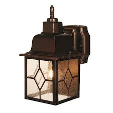 heath zenith 11 7 in h antique bronze motion activated outdoor wall light