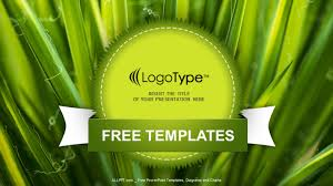√ Drop And Leaf Nature Powerpoint Template 0910 Powerpoint Themes ...
