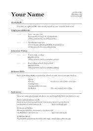 Example Of Simple Resume Magnificent Resume Examples Simple Basic Job Resume Examples A Simple Resume