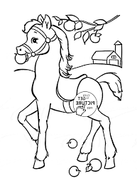 Girl Riding Horse Coloring Pages Gambar Drawing Coloring Book Kid