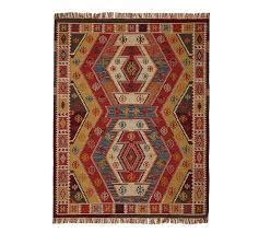 gianna recycled yarn kilim indoor outdoor rug warm multi pottery barn