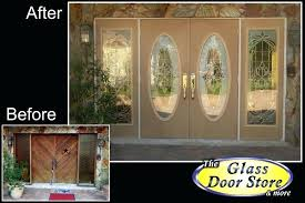 oval glass front door view larger image double doors with oversized sidelights replace old wood replacement