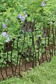 garden edging fence. Garden Border Fencing - Decorative Edging With Flowers, Set Of 3 Fence T