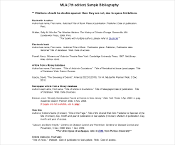 Mla Works Cited Template 9 Mla Bibliography Templates Free Pdf Doc Format