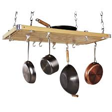 Kitchen Pot Rack Wood Rectangular Ceiling Kitchen Pot Rack Pot Racks At Hayneedle
