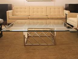 Superb Large Chrome And Glass Coffee Table 2 Great Pictures