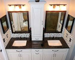 bathroom double sink cabinets. Small Storage Between Vanities. Hide Outlets Inside Along With Curling Iron, Blow Dryer And Flat Iron Storage! Bathroom Double Sink Cabinets