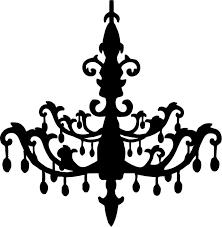 chandelier silhouette clipart 1