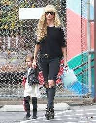 like mother like daughter kimberly stewart showed off her flair for edgy fashion in