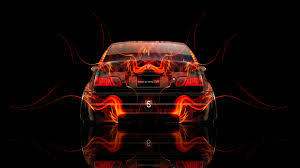 bmw m3 back fire abstract car