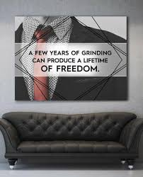 office canvas art. A Few Years Of Grinding Motivational Inspirational Office Canvas Wall Art (Wooden Frame Ready To U