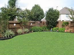 Decoration, Backyard Landscaping Ideas: Natural Backyard Landscaping With  Trees - Gardens For Life. back yard trees along fence .