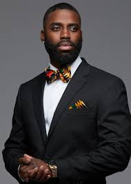 African American Bow Tie Designers Halif Mens African Print Satin Bow Tie And Pocket Square