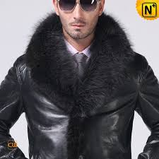 men sheepskin coat fur trim cw852458 cwmalls com