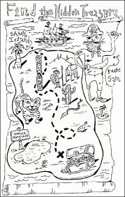 Small Picture Treasure Map Colouring Pages Free Download