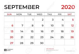Desk Calendar Printable September 2020 Calendar Template Desk Calendar Layout Size