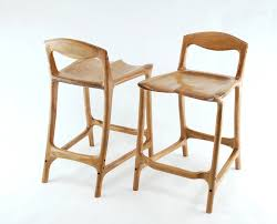 cherry bar stools. Sculpted Cherry Bar Stools Built By Paul Lemiski - Canadian Woodworks A