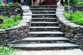 how to build natural stone steps like