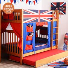 union jack furniture. Youth Bunk Bed With Curtain \u0026 Trundle : Union Jack Blue Furniture E
