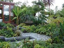 Small Picture tropical small garden with trees and a pond How Does Your Garden