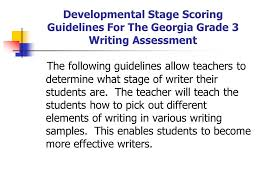 narrative expository writing nd grade natasha crosby  developmental stage scoring guidelines for the grade 3 writing assessment the following guidelines allow teachers