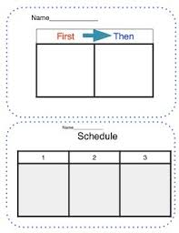 If Then Chart Autism First Then Chart Worksheets Teaching Resources Tpt