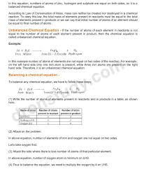 chapter notes chemical reactions and equations class 10 science 1 2 3 4