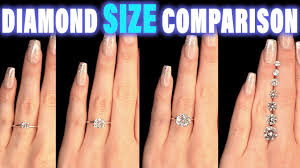 Diamond Size Comparison On Hand Finger Carat 1 2 3 4 0 5 Ct 0 25 0 75 1 5 0 3 0 8 0 7 0 6 0 4 9 1 2